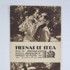 Cine: PROGRAMA DE CINE / TARJETA FOTOGRAMA - PIERNAS DE SEDA - 20TH CENTURY FOX, 1936. Lote 79768937