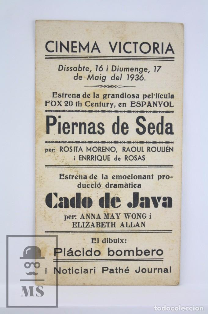 Cine: Programa de Cine / Tarjeta Fotograma - Piernas de Seda - 20th Century Fox, 1936 - Foto 2 - 79768937
