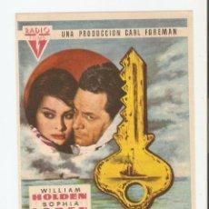Cine: LA LLAVE - WILLIAM HOLDEN, SOPHIA LOREN, TREVOR HOWARD - DIRECTOR CAROL REED - RKO RADIO FILMS. Lote 79843025