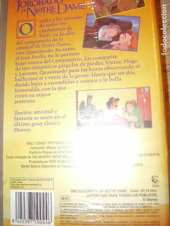 Cine: VIDEO VHS JOROBADO NOTRE DAME WALT DISNEY - Foto 2 - 79928581