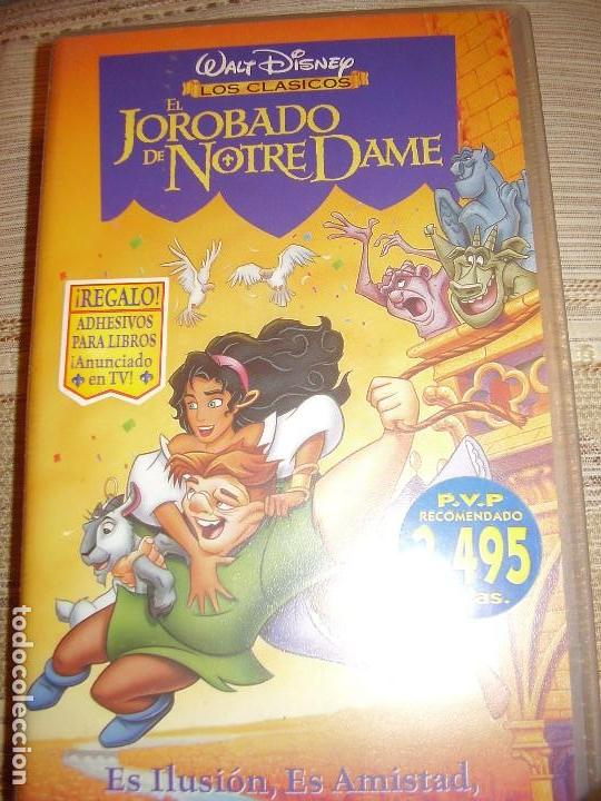 VIDEO VHS JOROBADO NOTRE DAME WALT DISNEY (Cine - Folletos de Mano - Infantil)