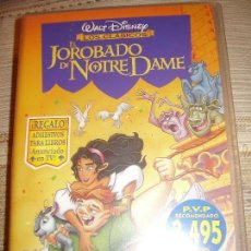 Cine: VIDEO VHS JOROBADO NOTRE DAME WALT DISNEY. Lote 79928581