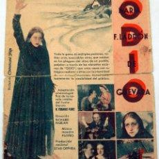 Cine: ODIO PROGRAMA MANO DOBLE MARÍA LADRÓN DE GUEVARA TEATRO CINE VILLAMARTA JEREZ 1934. Lote 80105141