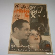 Cine: PROGRAMA DE CINE....EL MISTERIOSO SR. X.. Lote 80294081