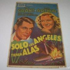 Cine: PROGRAMA....SOLO LOS ANGELES TIENEN ALAS.. Lote 80295713
