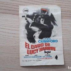 Cine: FOLLETO DE MANO DE LA PELÍCULA EL CASO DE LUCY HARBIN - RÍO CINEMA DE BARCELONA - 1965. Lote 80296781