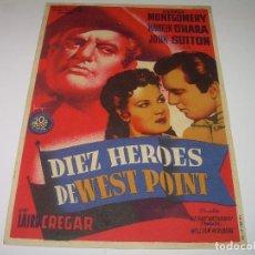 Cine: PROGRAMA DE C INE....DIEZ HEROES DE WEST POINT.. Lote 80309285