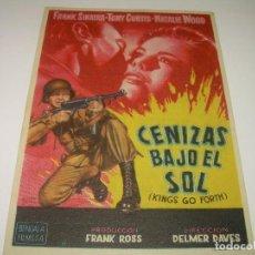 Cine: PROGRAMA DE CINE.....CENIZAS BAJO EL SOL.. Lote 80309641