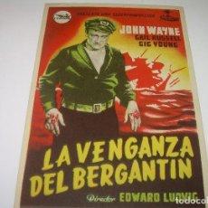 Cine: PROGRAMA DE CINE....LA VENGANZA DEL BERGANTIN.. Lote 80310545
