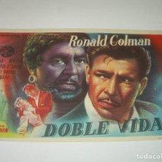 Cine: PROGRAMA DE CINE.....DOBLE VIDA.. Lote 80377361