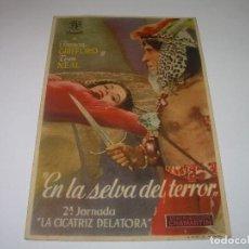Cine: PROGRAMA DE CINE....EN SELVA DEL TERROR.. Lote 80456277