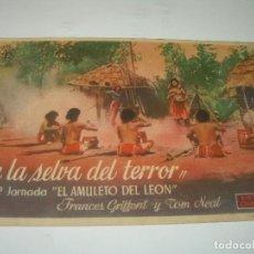 Cine: PROGRAMA DE CINE...EN LA SELVA DEL TERROR.. Lote 80456437
