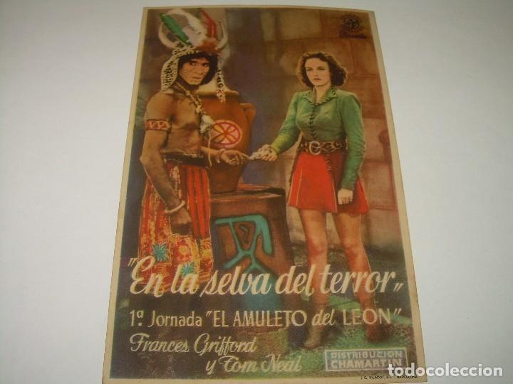 PROGRAMA DE CINE....EN LA SELVA DEL TERROR. (Cine - Folletos de Mano - Terror)