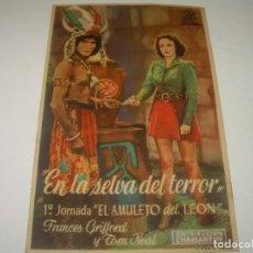 Cine: PROGRAMA DE CINE....EN LA SELVA DEL TERROR.. Lote 80456569