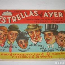 Cine: PROGRAMA DE CINE....ESTRELLAS DE AYER.. Lote 80458089