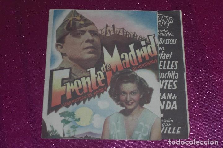 23065ad52 PROGRAMA CINE DOBLE FRENTE DE MADRID RAFAEL RIVELLES FOLLETO DE MANO AÑOS  40 PUBLICIDAD