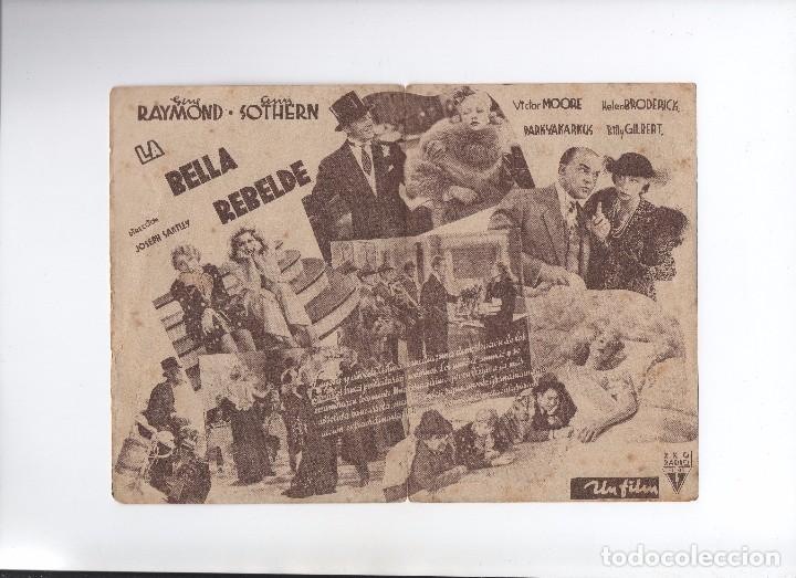 Cine: PROGRAMA DOBLE DE LOS 30 LA BELLA REBELDE GENE RAYMOND - Foto 2 - 80571886
