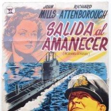 Cine: CARTEL POSTER ORIGINAL *SALIDA AL AMANECER* JOHN MILLS RICHARD ATTENBOROUGH - JANO. Lote 80590586