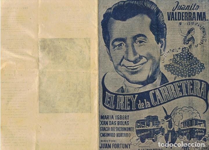 FOLLETO ¨EL REY DE LA CARRETERA¨DOBLE CANCIONERO JUANITO VALDERRAMA 1956 (Cine - Folletos de Mano - Clásico Español)