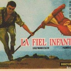 Cine: FOLLETO DE MANO ¨LA FIEL INFANTERÍA¨. Lote 80655930