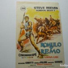 Cine: PROGRAMA ROMULO Y REMO - STEVE REEVES. Lote 80656026