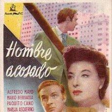 Cine: HOMBRE ACOSADO (CON PUBLICIDAD). Lote 80666590