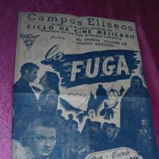 Cine: LA FUGA RICARDO MONTALBAN ESTHER FERNANDEZ PROGRAMA DE CINE DE MUSEO. Lote 80778682