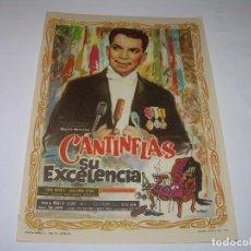 Cine: PROGRAMA DE CINE.....CANTINFLAS . SU EXCELENCIA.. Lote 80817599