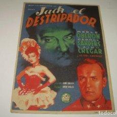 Cine: PROGRAMA DE CINE.....JACK EL DESTRIPADOR.. Lote 80820267