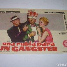 Cine: PROGRAMA DE CINE....UNA RUBIA PARA UN GANGSTER.. Lote 80820643