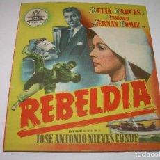 Cine: PROGRAMA DE CINE DOBLE.....REBELDIA.. Lote 80840827
