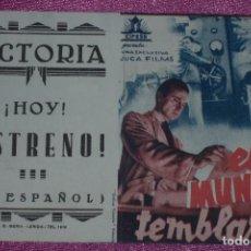 Cine: EL MUNDO TEMBLARA ,PROGRAMA DE CINE DOBLE PUBLICIDAD CIFESA RESERVADO.. Lote 80982852