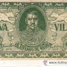 Cine: VIVA VILLA, PROGRAMA TROQUELADO EN FORMA DE BILLETE, CON PUBLICIDAD. Lote 81211064