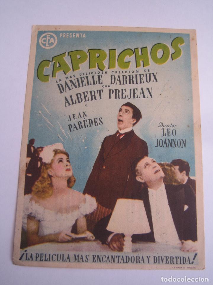 CAPRICHOS FOLLETO DE MANO ORIGINAL ESTRENO CON CINE IMPRESO (Cine - Folletos de Mano - Drama)