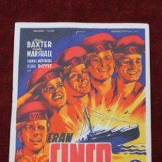 Cine: PROGRAMA CINCO HERMANOS, CINE GREJ PARQUE DE RECREOS, TORRE PACHECO 1948. Lote 81852056