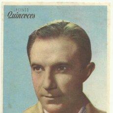 Folhetos de mão de filmes antigos de cinema: CAMPEONES, 1943. JACINTO QUINCOCES (FUTBOLISTA REAL MADRID) DIR. RAMON TORRADO. SIN PUBLICIDAD. Lote 81996428