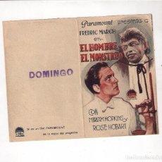 Cine: EL HOMBRE Y EL MONSTRUO, FREDERICH MARCH, DOBLE PARAMOUNT AÑOS 30. Lote 82113384