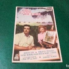 Cine: PROGRAMA DE MANO ORIGINAL - FLOR DE LAGO - CON PUBLICIDAD CINEMA GOYA DE ALCOY. Lote 82146348