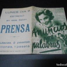 Cine: ANUNCIOS POR PALABRAS - 1932 - MAGDA SCHNEIDER ( MADRE DE ROMY SCHNEIDER ) - DOBLE. Lote 82353056