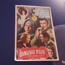 Cine: PROGRAMA DE MANO ORIGINAL - EL DANUBIO ROJO -- CON PUBLICIDAD CINE PARK 1954. Lote 82469384