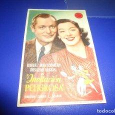 Cine: PROGRAMA DE MANO ORIG- INVITACION PELIGROSA - TEATRO OBERON ( PEDIDO MINIMO 5 EUROS ). Lote 82697924
