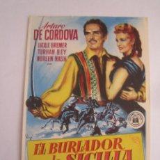 Flyers Publicitaires de films Anciens: EL BURLADOR DE SICILIA SOLIGO FOLLETO DE MANO ORIGINAL ESTRENO PERFECTO ESTADO. Lote 82857104