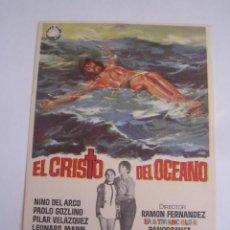 Folhetos de mão de filmes antigos de cinema: EL CRISTO DEL OCEANO FOLLETO DE MANO ORIGINAL ESTRENO PERFECTO ESTADO. Lote 93187295