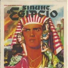 Cine: PROGRAMA CINE.SINUHE EL EGIPCIO.. Lote 82925532
