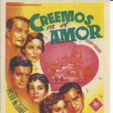 Cine: PROGRAMA CINE.CREEMOS EN EL AMOR.. Lote 82925744