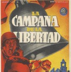 Cine: PROGRAMA CINE.LA CAMPANA DE LA LIBERTAD.. Lote 82967364