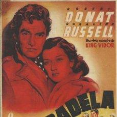 Cine: PROGRAMA CINE.LA CIUDADELA.1943.. Lote 83127720