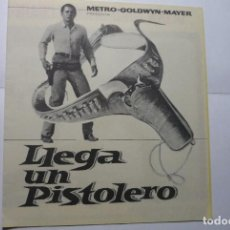 Cine: PROGRAMA DOBLE LLEGA UN PISTOLERO -GLENN FORD-PUBLICIDAD RIACHO-CIRCO - ORIHUELA???. Lote 83229048