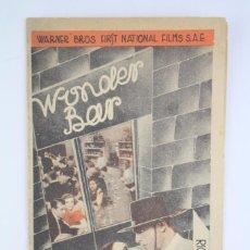 Cine: PROGRAMA DE CINE DOBLE - WONDER BAR - DOLORES DEL RÍO - WARNER BROS / FIRST NATIONAL, 1935. Lote 83284472