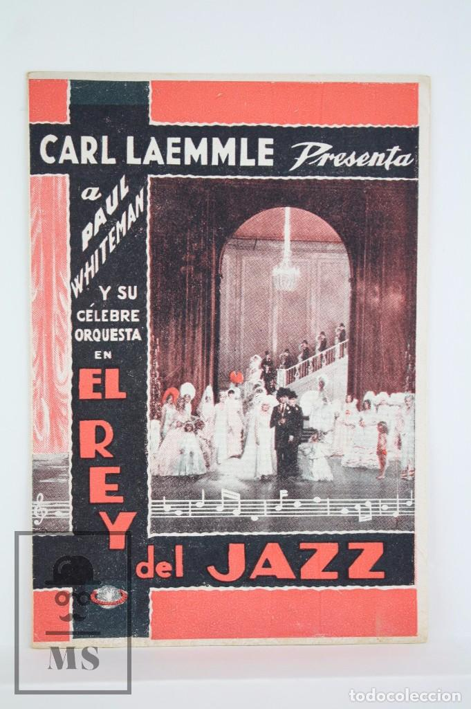 PROGRAMA DE CINE DOBLE - EL REY DEL JAZZ - CARL LAEMMLE / UNIVERSAL PICTURES, 1935 (Cine - Folletos de Mano - Musicales)
